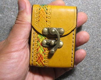 Tarot Mini Deck Box Tarot leather Tarot Mini bag Original Tarot leather case Leather pouch Tarot Card holder Leather bag