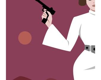 Princess Leia Postcard