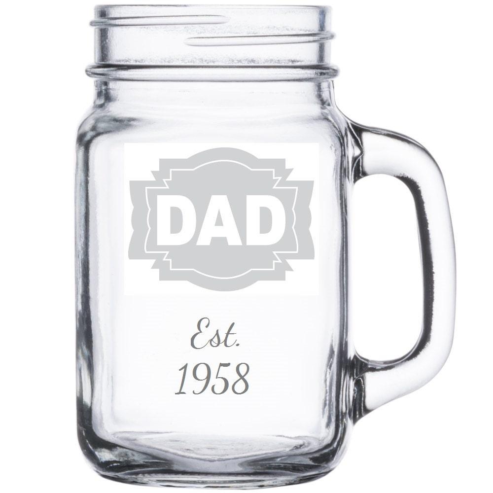 Dad Mason Jar Mug GUARANTEED Delivery For FATHER\'S DAY