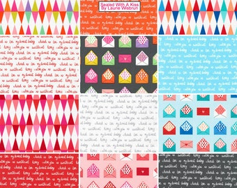 "Robert Kaufman Sealed With A Kiss Precut 5"" Charm Pack Fabric Quilting Cotton Squares Laurie Wisbrun CHS-378-42 SQ126"