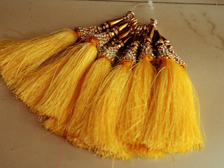 Ethnic Traditional Tassel. Decorative Beaded Silk thread