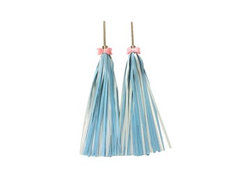 Blue Bike Tassels, Streamers - Bingelci - Bike Accessories for Handbar + Bows for FREE!!