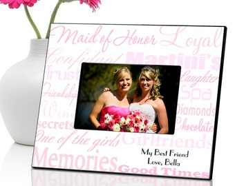 Personalized Maid of Honor Frame - Bridesmaids Gift - Gifts for Her - Bridesmaid Gift Ideas - GC650