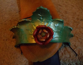 Leather Leaf Princess Crowns
