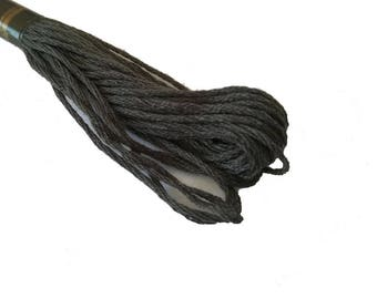 1 skein 8 m Mercerized cotton FLOSS - charcoal grey 187