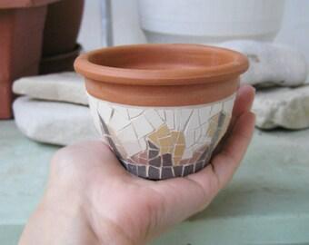 mini ceramic mosaic planter