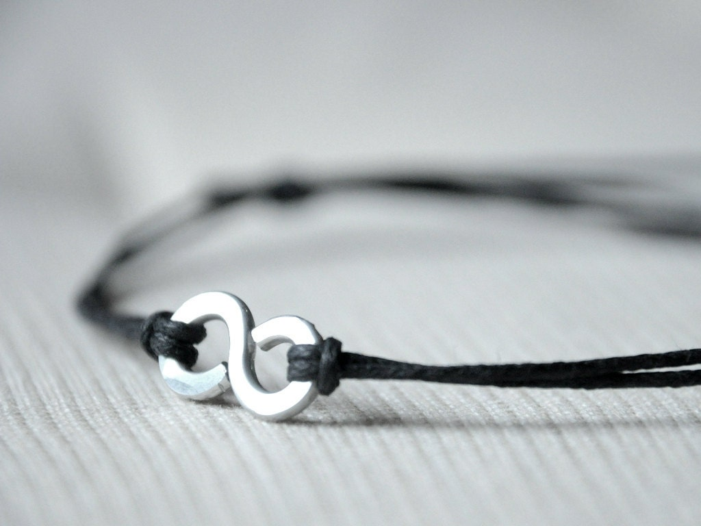 For Him Infinity Bracelet Aluminium wire and waxed cotton