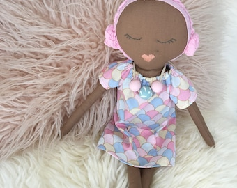 Valentine - handmade heirloom cloth doll with accessories
