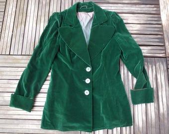 jacket/blazer bouteile green silk velvet