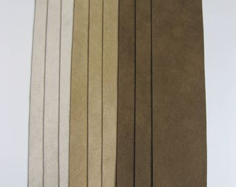 Ultrasuede Soft 2x8 Inch Strips - Shades of Brown