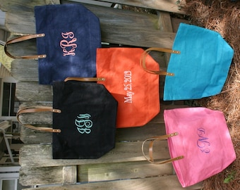 Monogrammed / Personalized Large Jute Tote Bag