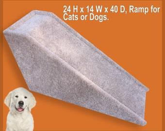 "Dog Ramp, Built to last,  24"" tall x 14"" wide x 40"" Deep Dog Ramp."