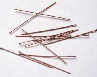 20 nails (60 mm) flat head brass copper red