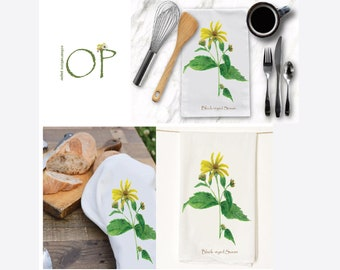 Tea Towel-Black Eyed Susan-Mother's Day