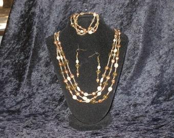 Autumn Woods collier, Bracelet et boucles d'oreilles