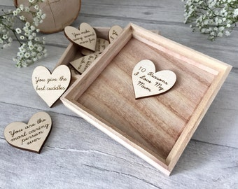 10 Reasons I love My Mum - 10 Things I Love About My Mum - Mothers Day Gift - Gift For Mum - Wooden Box - Personalised Gift - Gift from Baby