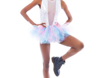 Laci Tutu - Turquoise, Light Blue and Shocking Pink - Available in Infant, Toddlers, Girls, Teenager, Adult and Plus Sizes