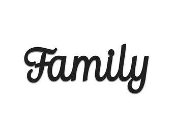 Family | Word Art Cutout | Wall Art | Wall Decor | Home Decor