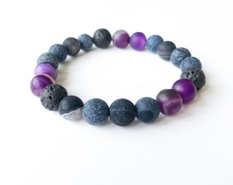 Diffuser Lava and Agate bracelet