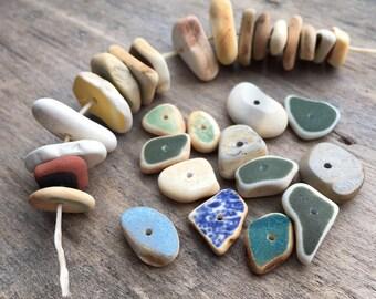 Sea Pottery Beads