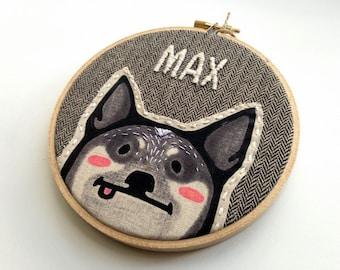 Custom Pet Portrait - Personalized Pet - Dog Portrait - Pet Portraits - Custom Embroidery - Gift for Pet Lover - Embroidered Pet Portrait