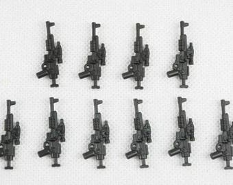 A280 Custom Blaster Rifle weapons pack of 10 each works great with most block minifigures