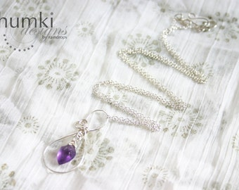 Sakhi till Infinity /// Amethyst and Sterling silver Signature Infinity BRIDESMAIDS Necklaces by Jhumki - designs by raindrops