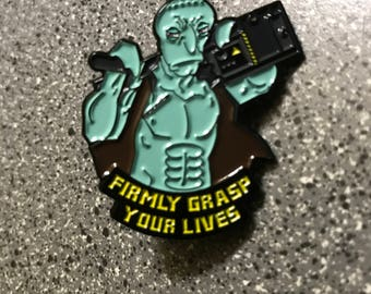 Action Movie Squidward Pin