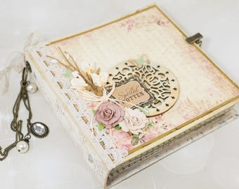 Gift for Grand-Parents, Premade Scrapbook, Vintage Scrapbook Album, Photo Album, Mini Album, Scrapbook Album, Mini Scrapbook, READY TO SHIP