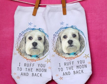 Pet Paradise - Pet Photo Socks - Custom Printed Socks With Your Pet's Photo - Print Your Pet on a Pair of No-Show Socks - Pet Mom Gifts