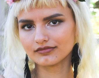Gypsy Accessories, Boho Earrings, Black Feather Earrings, Boho, Gypsy, Hippie, Festival jewelry, Boho Jewelry, Free Spirit, Cowgirl, Bohemia