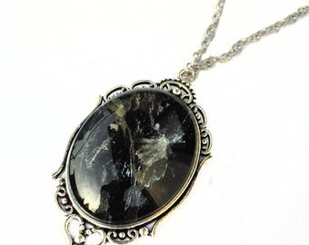 Gothic Necklace, Black Cameo Necklace, Victorian Goth Necklace
