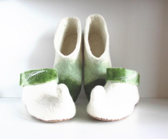 gnome women slippers slippers white elf wool mens shoes Felted slippers felt felted slippers slippers slippers green slippers Z1zqn5WUvn