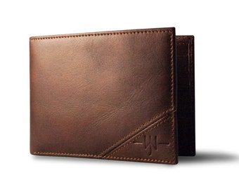 Oxford Scholar - Slim Bi-Fold Mens Wallet : Brown
