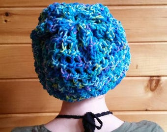 Dreadlock Tam / Slouchy Hat / Summer Tam / Drawstring Hat