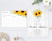 Rustic wedding shower Inv...