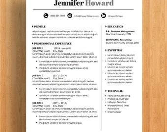 "Professional Resume Template | CV and Cover Letter | Creative Resume Designs | Mac or PC | Fully Customizable (""Laguna"")"