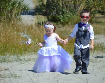 Lilac flowergirl dress, special occasion dress,  toddler dress