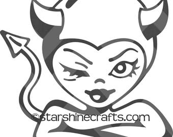 She-devil SVG for personal cutting machines