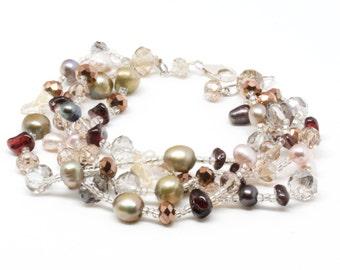 Elegant High Fashion Multi-Gemstone Bracelet,  Birthday Gift, Thank you Gift, Graduations Gift