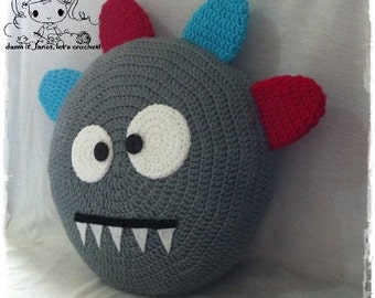 Monster Pillow - PDF Crochet Pattern - Instant Download