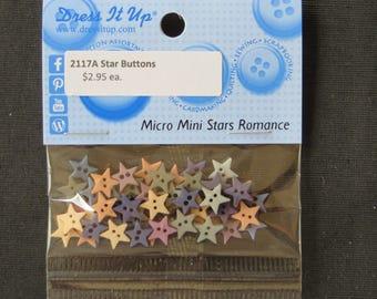 2117Q Micro Mini Stars Romance Buttons Dress It Up