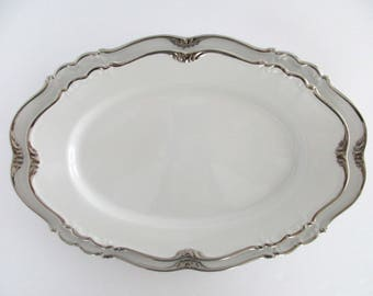 13 & 15inch Long, Set of 2, Edelstein Bavaria Germany Maria-Theresia #19639 Sheridan Oval Serving platters, Vintage Tableware