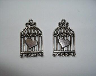 Birdcage Pendant, 2 pieces (287)