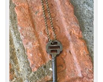 Antique Skeleton Key Necklace - Ophelia - Antique Skeleton Key - Vintage Skeleton Key - Antique Key - Vintage Key - 1800's Skeleton Key