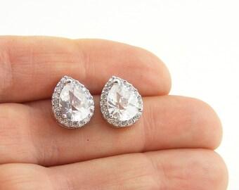 Sparkling Crystal Post Earrings, Vintage Style Bridal Earrings, Wedding Jewellery, Bridesmaid Gifts