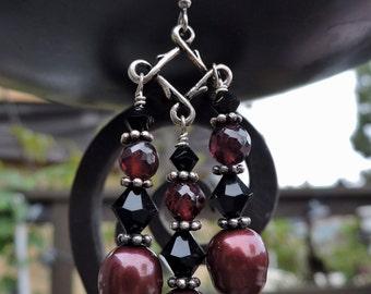 Red Queen Chandelier Earrings
