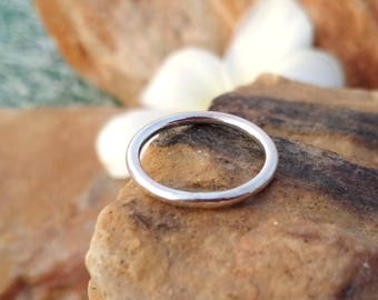 Handmade Silver Band Ring- Sterling Silver - Handmade Jewelry