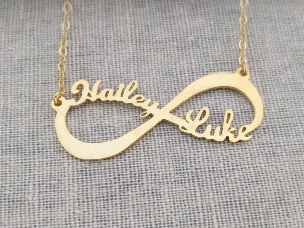 Gold infinity necklaceinfinity name necklaceinfinity double zoom biocorpaavc Choice Image