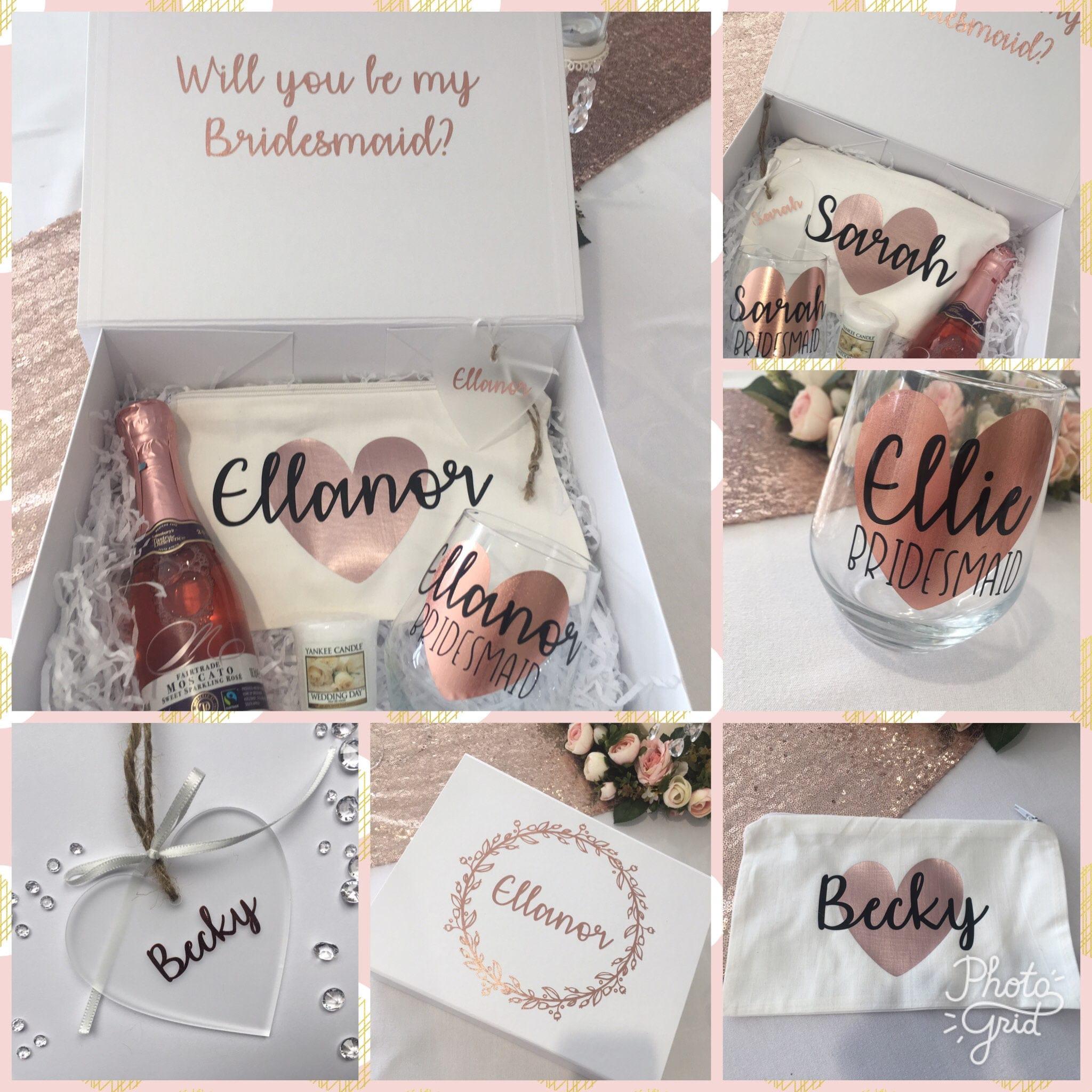 Free Gift Personalised Bridesmaid Gift Box Bridesmaid